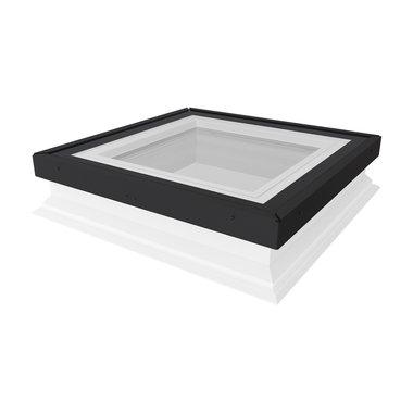 FAKRO lichtkoepel met vlak glas, 120x120 cm.